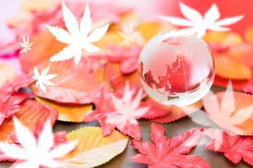 紅葉と日本