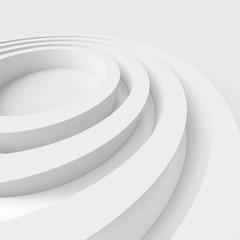White Circular Design