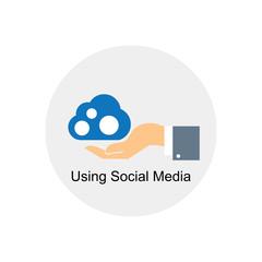 using social media icon