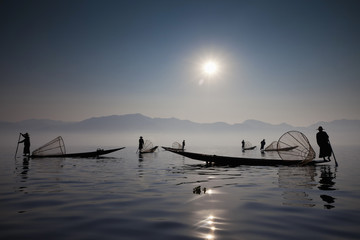 Fishermen on Inle Lake, Myanmar