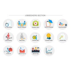 job seekers section icon set