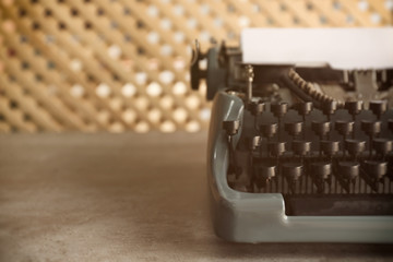 Old typewriter on the table