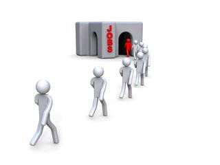 Job Recruitment / 3D render image representing a job recruitment
