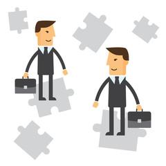 Business Solution. Businessman concept illustration eps 10
