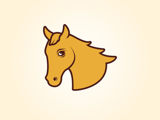Horsehead vector illustration. Beautiful brown horse. Horse icon