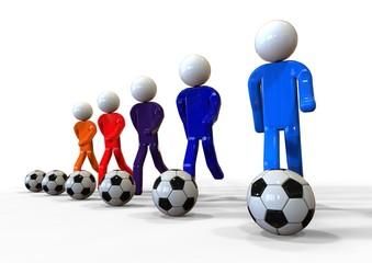 Football concept / 3D render image representing football