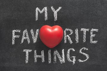 my favorite things heart