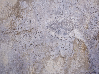 Cracks and Stain on surface of concrete wall