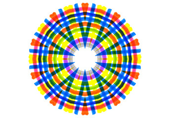 Abstract bright color shape