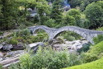 ancient Roman bridge over the river