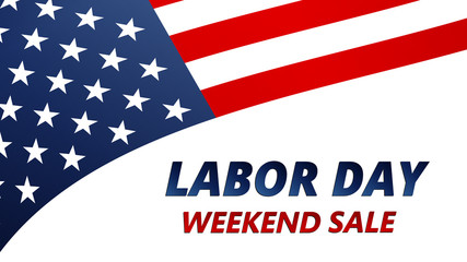 Labor Day Sale vector illustration