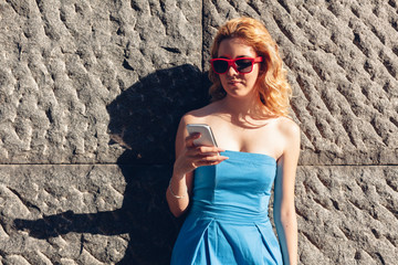 Stylish girl with sunglasses