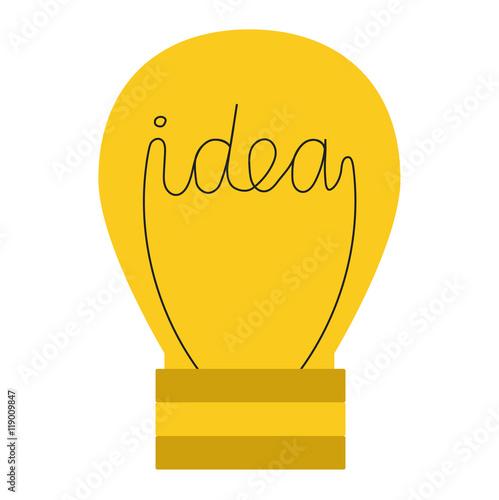 Drawing Idea Light Bulb Concept Creative Design Vector Lamp Innovation Electric Creativity Inspiration