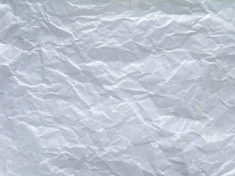 White wax crumpled paper