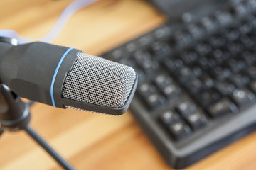 Microphone with computer