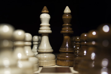 Chess on a black background