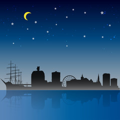 Gothenburg City Night Scene