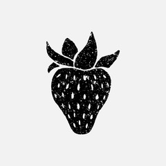 Hand drawn strawberry isolated on white background. Vector illustration