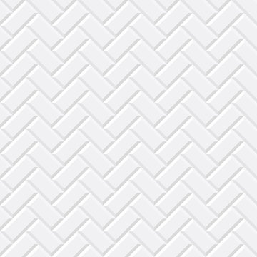 White tiles, ceramic brick. Diagonal seamless pattern. Vector illustration EPS 10