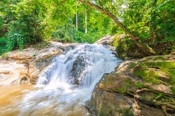 maesa waterfall at maerim chaingmai northern thailand