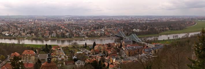 Fototapete - blaues Wunder, Dresden