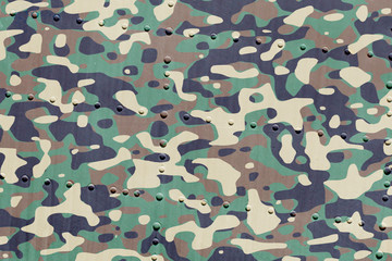 Piece of aircraft grunge metal background, army camo