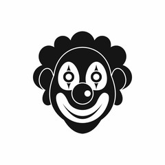 Clown icon in simple style isolated on white background. Joke symbol