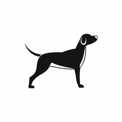 Dog icon in simple style isolated on white background. Animal symbol