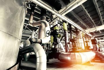 Industrial zone, Steel pipelines and equipment