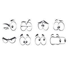 Cartoon Eyes Vector Illustration