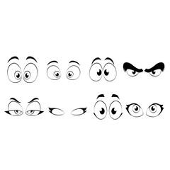 Cartoon Eyes Vector Illustration