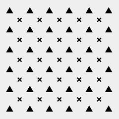 Black and white pattern background triangle, retro vintage minimal design vector, geometric