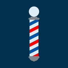 Icono plano poste barbero color sobre fondo azul