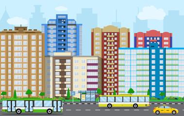 Modern City View.