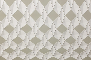 Geometric background with diamond structure in beige tone