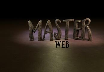 Master, Webmaster, 3D, Typography