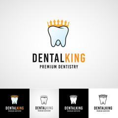 Teethcare logo template. dental icon set. dentist clinic insignia, orthodontist illustration, teeth vector design, oral hygienist concept for stationary, tooth branding t-shirts picture, business card