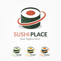 Sushi Place Logo Template