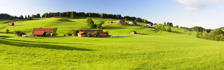 Panorama Landschaft in Bayern im Allgäu Wall mural