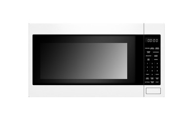 stylish microwave oven isolated