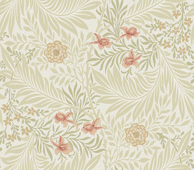 Floral pattern for your design. Desktop wallpaper. Background.  Illustration. Modern seamless pattern for interior decoration, wrapping paper, graphic design and textile.