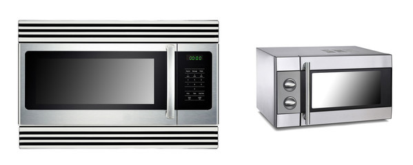 microwave ovens isolated