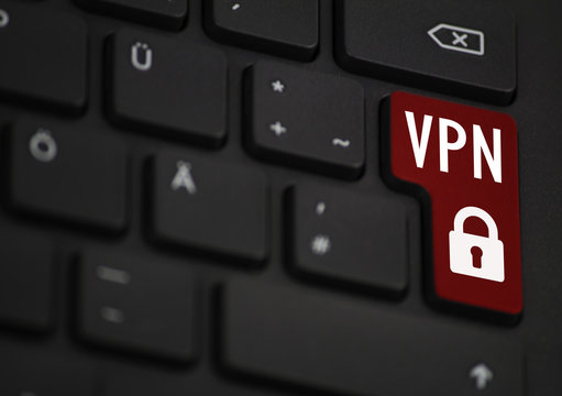 VPN Symbol on the return key, colored in Red