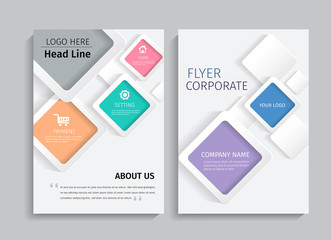 Geometric design on background.Brochure template layout,cover design,annual report,magazine,leaflet,presentation background,flyer design.and booklet in A4 with Vector Illustration.