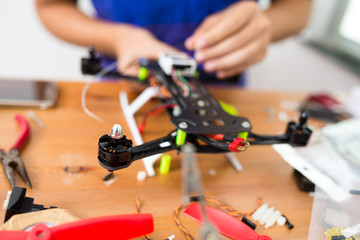 Building of drone at home