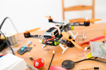 Making of drone at home