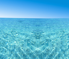 beautiful blue sea water