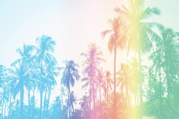 Coconut palms Vintage