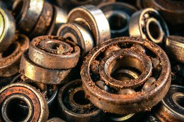 old rusty ball bearing