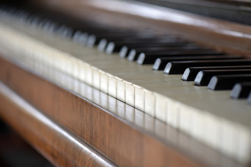 Details of an old piano